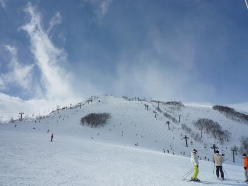 1月3日の八方尾根スキー場