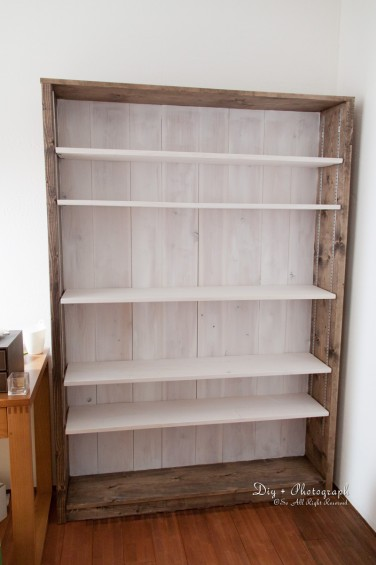 大型の本棚をつくった5