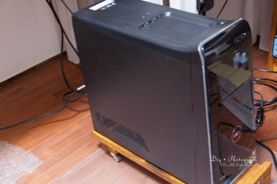 PCをのせてみた写真